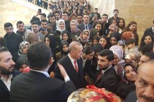 CUMHURBAŞKANI SN RECEP TAYYİP ERDOĞAN 'a ZİYARET