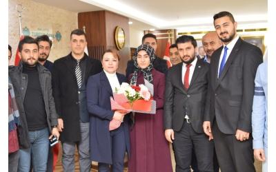 MALATYA TURGUT ÖZAL ÜNİVERSİTESİ REKTÖRÜ PROF.DR. AYSUN KARABULUT'A ZİYARET